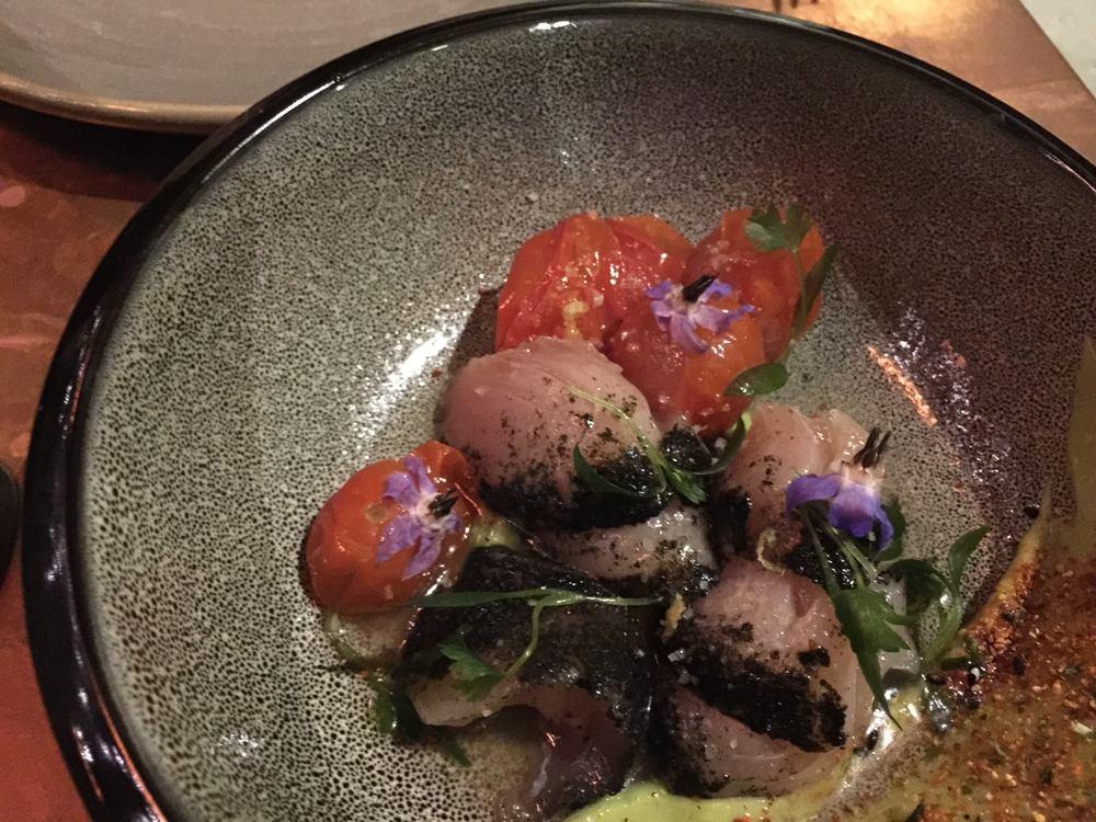 Hamachi/Nori, Avocado, Sweet & Sour Tomatoes