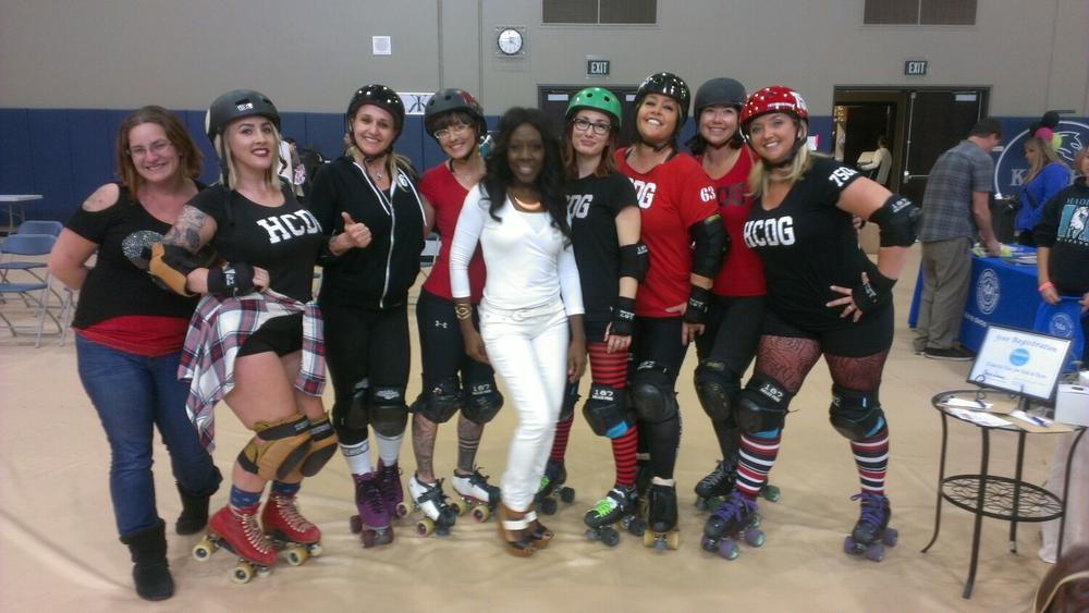Elaine Swann and the Hidden City Derby Girls
