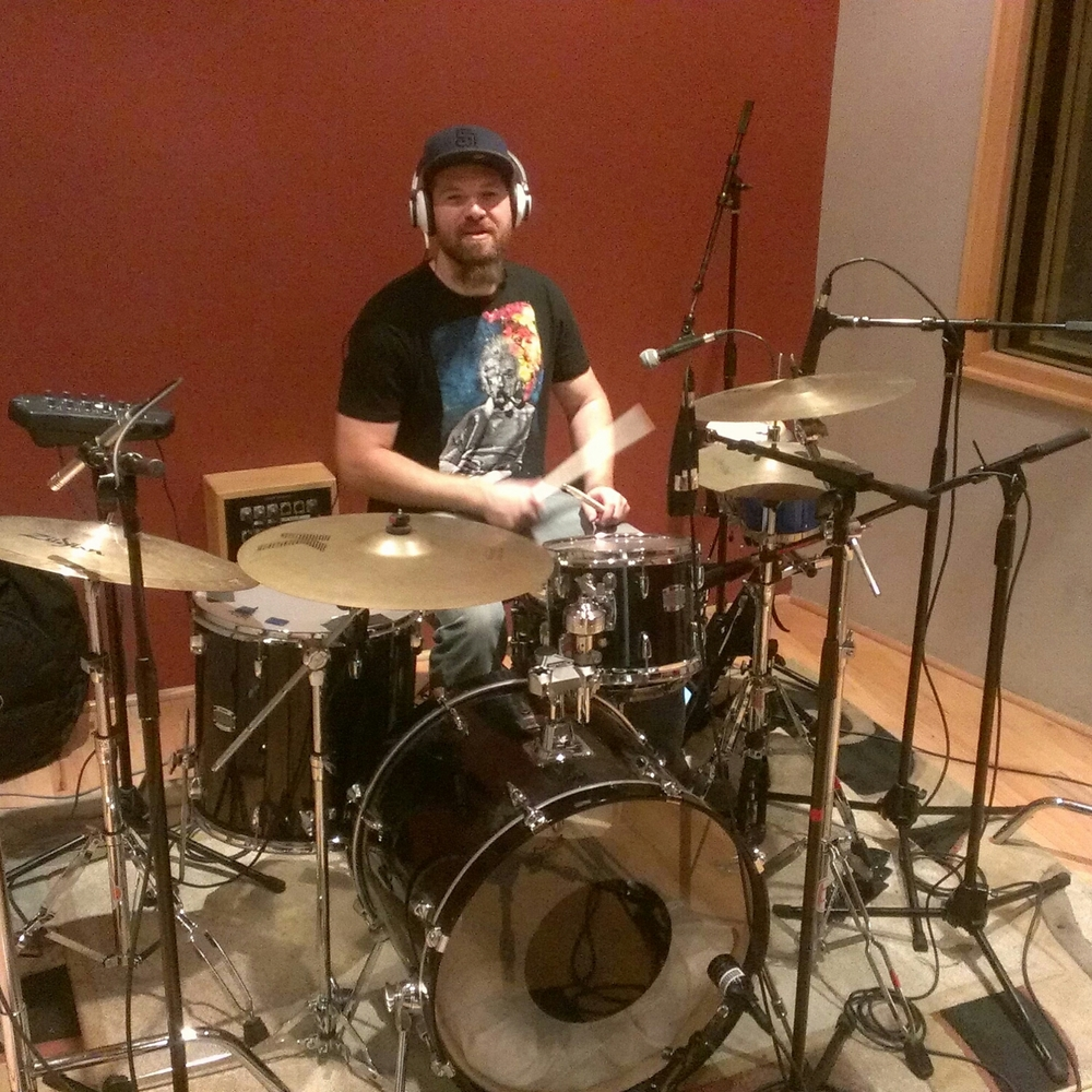 JP on drums