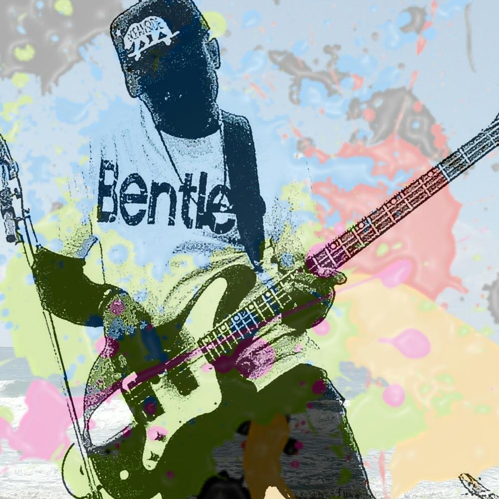 Chris on the B4bass guitar