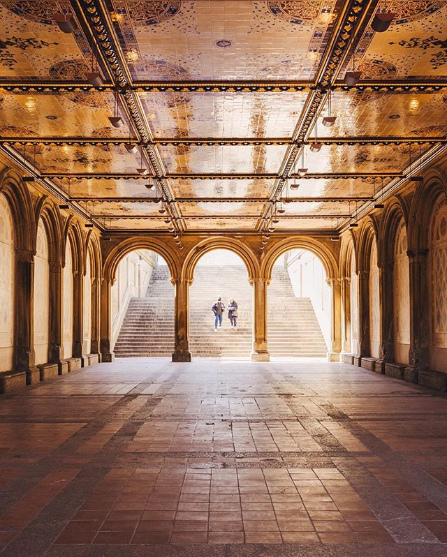 [Light at Bethesda Terrace] • Certamente um local que foi além das minhas expectativas. No fim de um largo corredor no Central Park, encontramos o Bethesda Terrace. É incrível a sensação da luz passando pelos arcos e revelando a linda arquitetura no túnel dourado que se destaca como uma das principais atrações do parque. . Certainly a place that was beyond my expectations. At the end of a long corridor at Central Park, we find the Bethesda Terrace. It is amazing to feel the light filters through the arches and revealing the beautiful architecture in the golden tunnel, that stands out as one of the main park attractions.