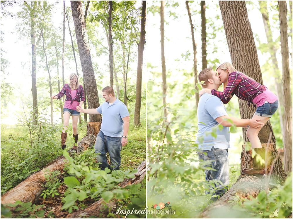 Woodsy Engagement Photography