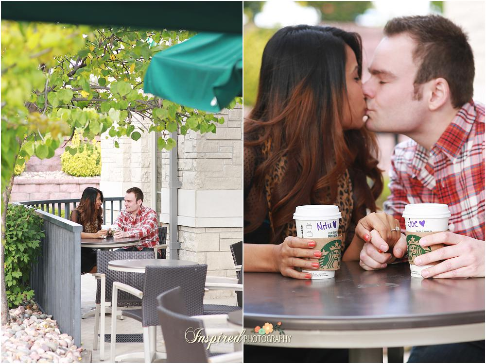 St. Charles Starbucks Engagement Photography // www.inspiredphotographystl..com