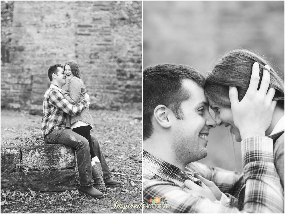 Meramec Springs Missouri Outdoor Woodsy Engagement Photography // www.inspiredphotographystl.com