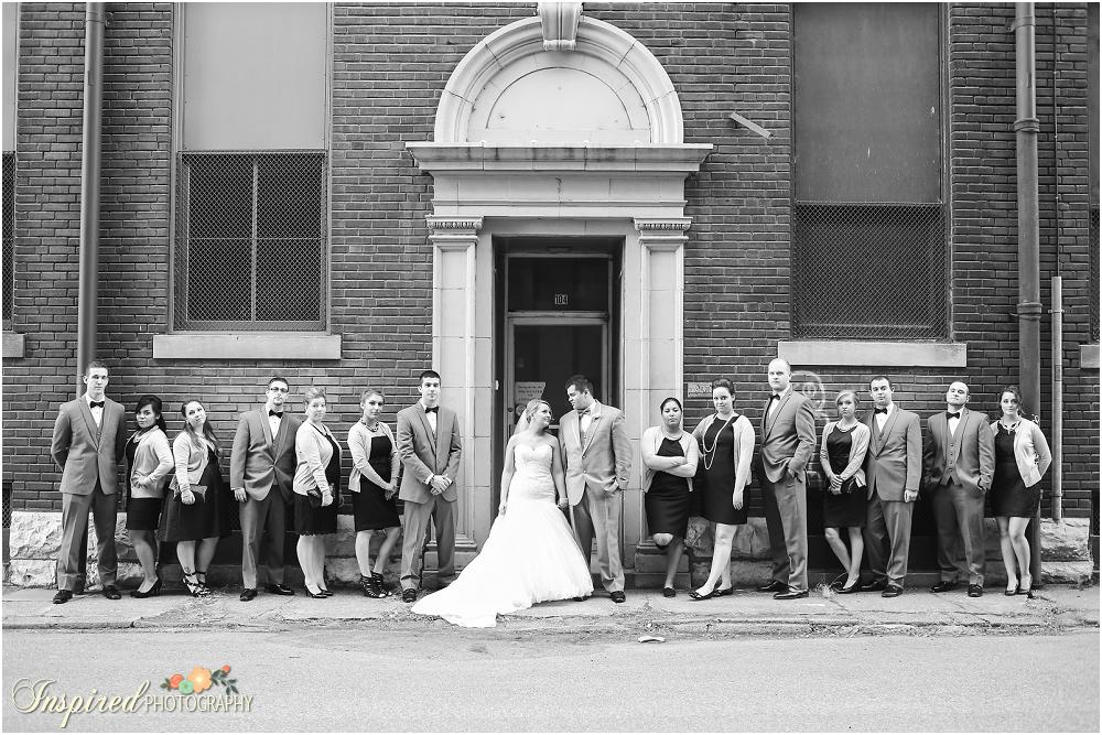 Downtown St. Louis Wedding Photography / www.inspiredphotographystl.com