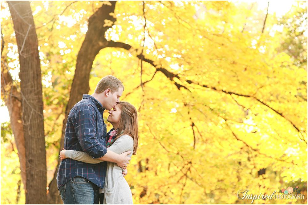 Creve Coeur Lake Park Outdoor Fall Engagement Photography // www.inspiredphotographystl.com