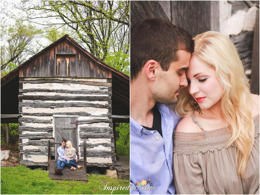 Rainy Rustic Outdoor Barn St. Louis Engagement Photography // www.inspiredphotographystl.com