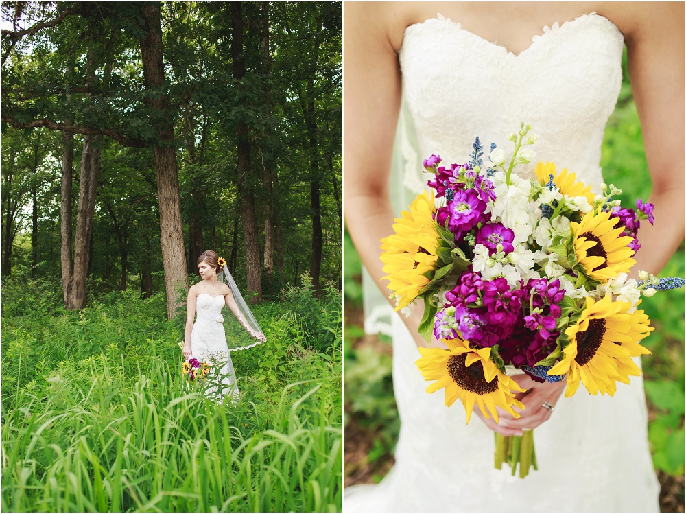 Outdoor summer wild flowers wedding photography, Quail Ridge Park, Bear Creek Golf Club // www.inspiredphotographystl.com