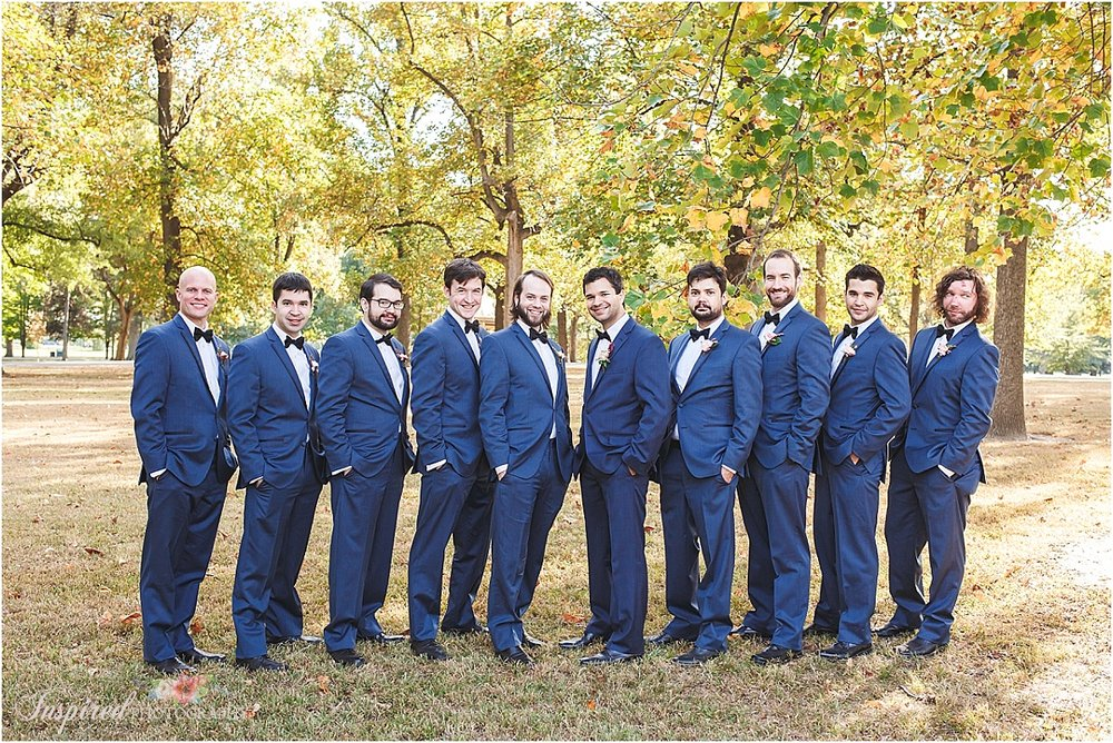 Tower Grove Park Fall St Louis Wedding Photography // www.inspiredphotographystl.com