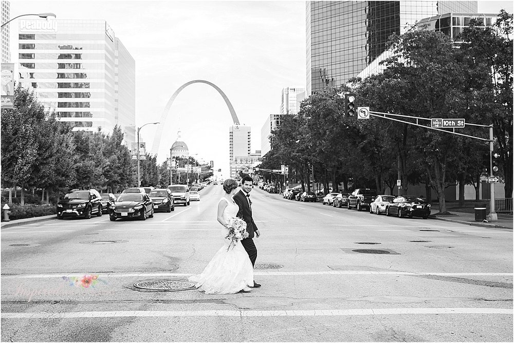 Fall Downtown St Louis Wedding Photography // www.inspiredphotographystl.com