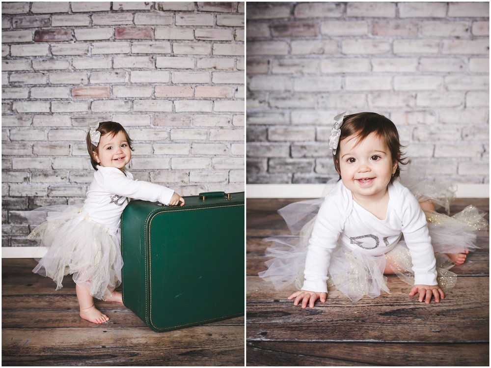 First Birthday Child Photography, Outdoor Photography, First Birthday, Old Town St. Charles, Christmas Baby // www.inspiredphotographystl.com