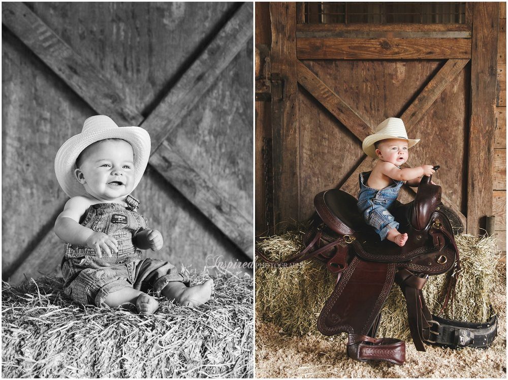 St. Louis 6 months child family photography, farmer baby, baby cowboy // www.inspiredphotographystl.com
