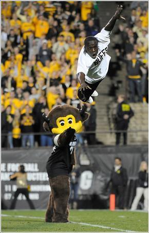 Ozell completely flipping-out during a Colorado football game.