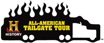 The official HISTORY All-American Tailgate Tour logo. (via HISTORY.com)