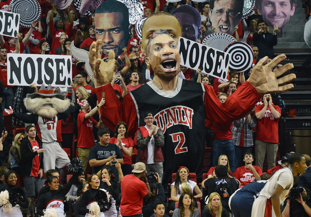 A new standard for creativity has been set by the UNLV student section. (photo via CBS sports)