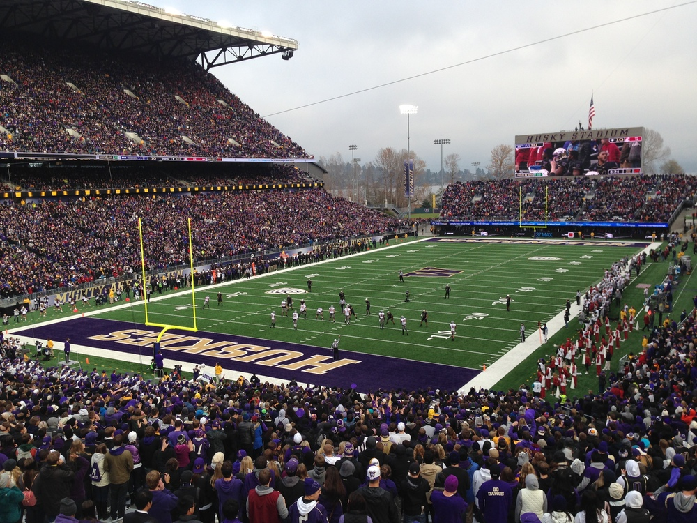 The Greatest Setting in College Football - Husky Stadium.