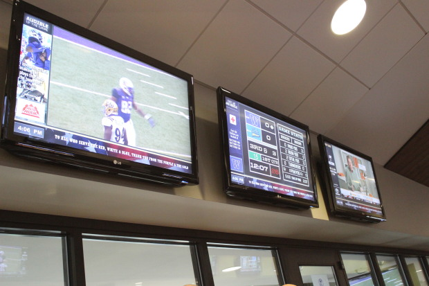 Examples of concourse televisions at Husky Stadium (photo via geekwire.com)