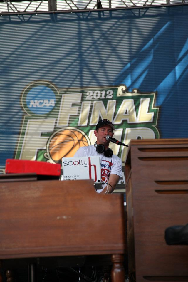 Scotty B serving as the DJ & Emcee at the Infiniti Tip-Off Tailgate at the 2012 NCAA Final Four in New Orleans.