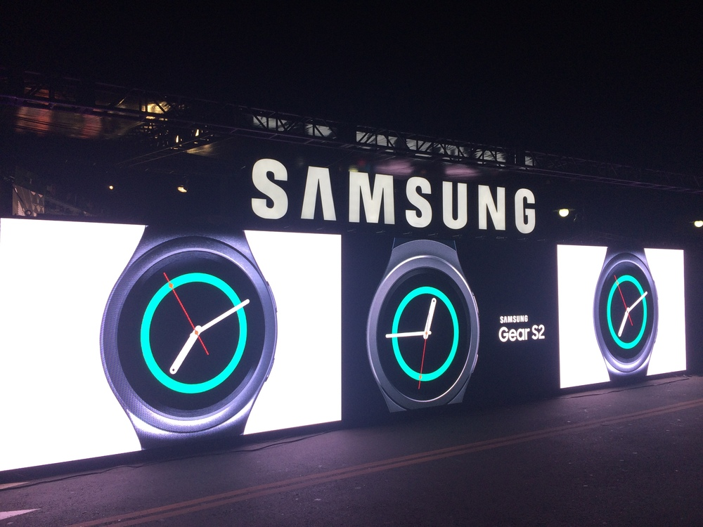 Samsung was the presenting sponsor of the LED court.