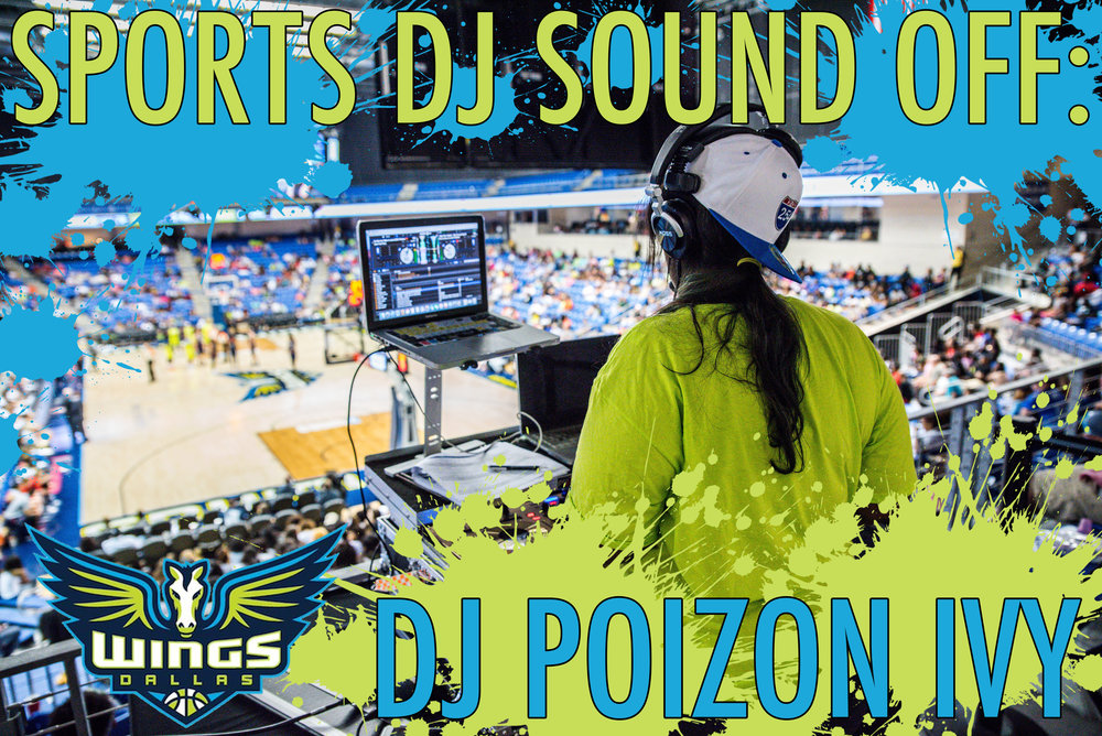 DJ Poizon Ivy is the official DJ of the WNBA's  Dallas Wings . (Photo: Gavin Lueking)