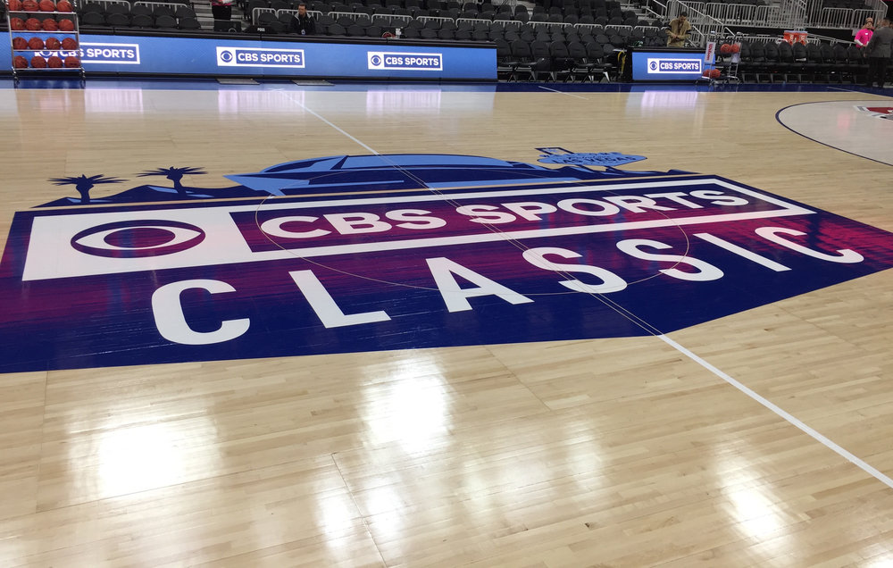 The  2016 CBS Sports Classic  took place in Las Vegas at  T-Mobile Arena  on December 17 and featured Ohio State vs. UCLA followed by Kentucky vs. North Carolina.