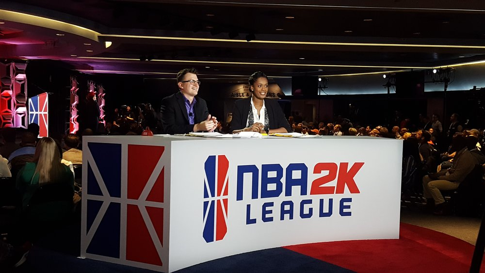 The NBA2K League draft was hosted by the gamer savvy, Dirk & WNBA legend, Swin Cash.