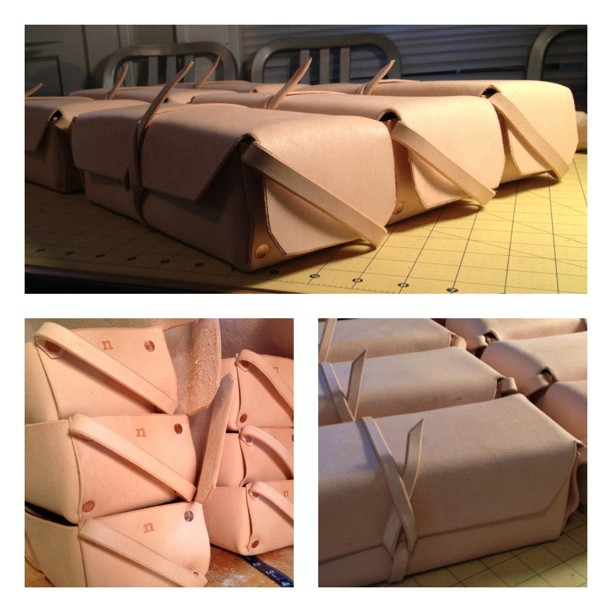 Dopp Kits All Done!!! Finally. Hours of hammering.  (Taken with  Instagram )