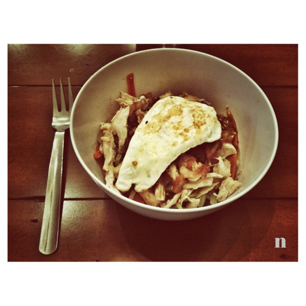 Sesame Orange Chicken Vermicelli Bowl (Taken with instagram)