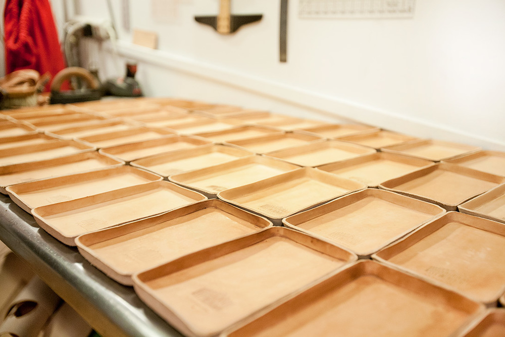 Trays getting a coat of Neatsfoot Oil