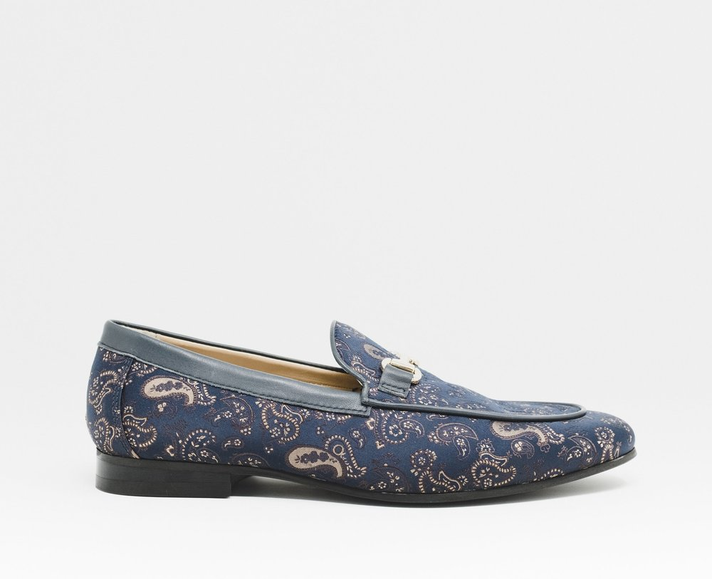 Jude Paisley Trim Loafer NAVY - £90.00