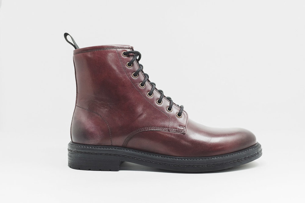 Wolf Lace Boot BURG - £75.00