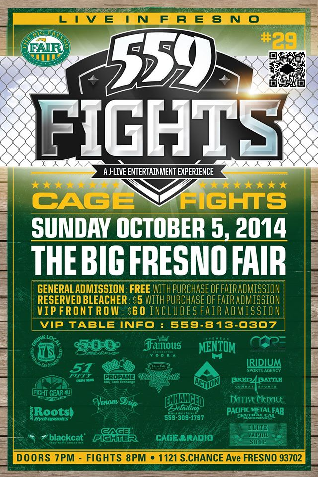 Come out and help support local Fresno Fighters!! Event is free with fair admission!