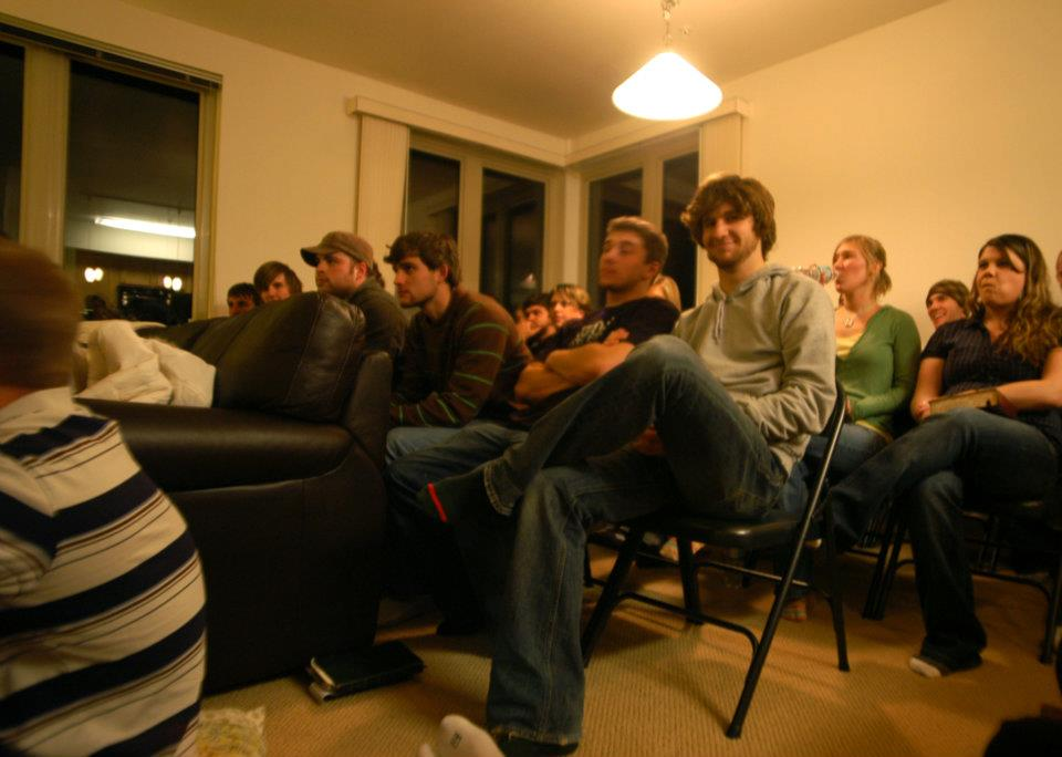 Ekklesia starting to grow. We eventually stuffed over 90 people in there.