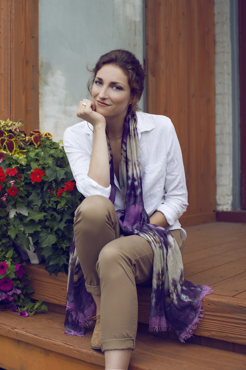 GAUZY MODAL Made of modal cotton, this sheer, oh-so-soft scarf adds delicate detail to your everyday look. The gauzy modal has an air of casual elegance which makes it equally at home with a pair of jeans, or your little black dress. For the more adventurous self-stylists, tie it into a trendy vest, style as a chic beach cover-up, or fashion into fabulous head-wrap!