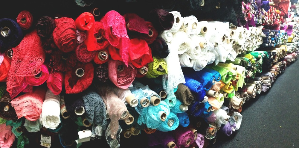 Mood fabric store -endless colors and textures!