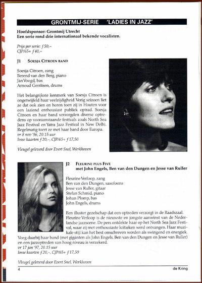Met o.a. Fleurine en Soesja + Trio in het programma 'Ladies in Jazz'