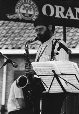 Barry Block op 't Amersfoorts Jazz festival.Foto A. Fledderus