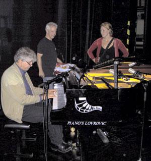 Met geluidstechnicus Erik Hendriks en inspeciënte Anja Meinders