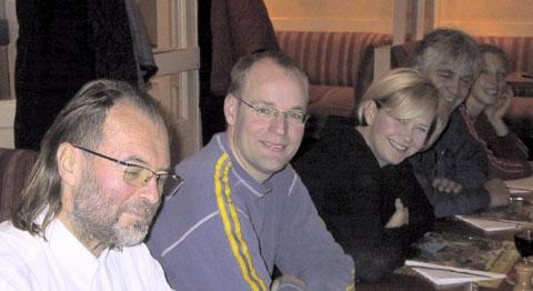 Kris, Gert, Matilde en Anja