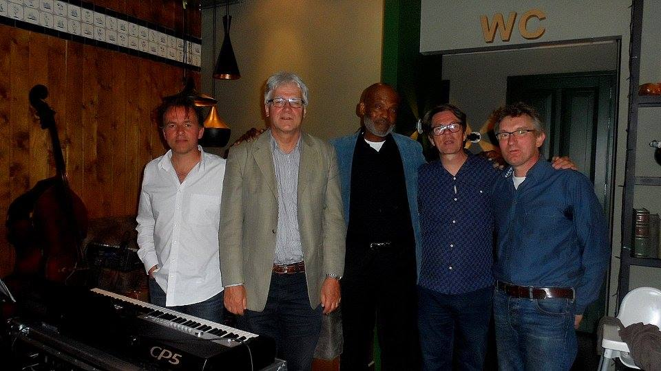 With Humphrey Campbell and Joep Lumeij in Café Leuten. Photo P. Lehwald