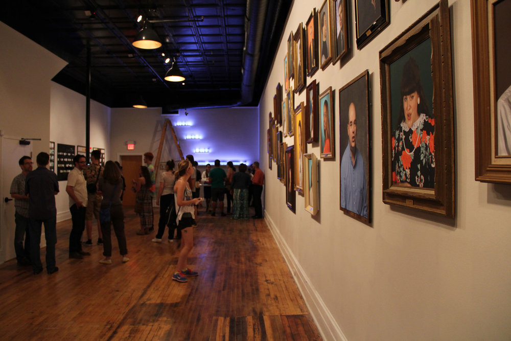 Our main gallery is a space for new exhibitions, live performances, and community events.