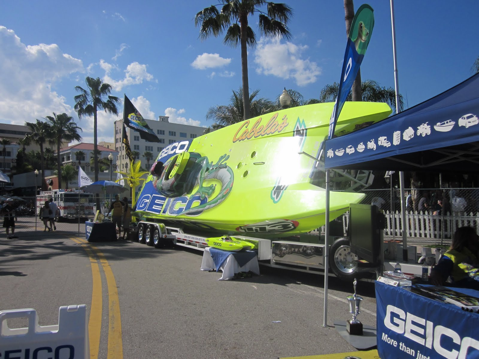 Geico Off-shore Racing Boat