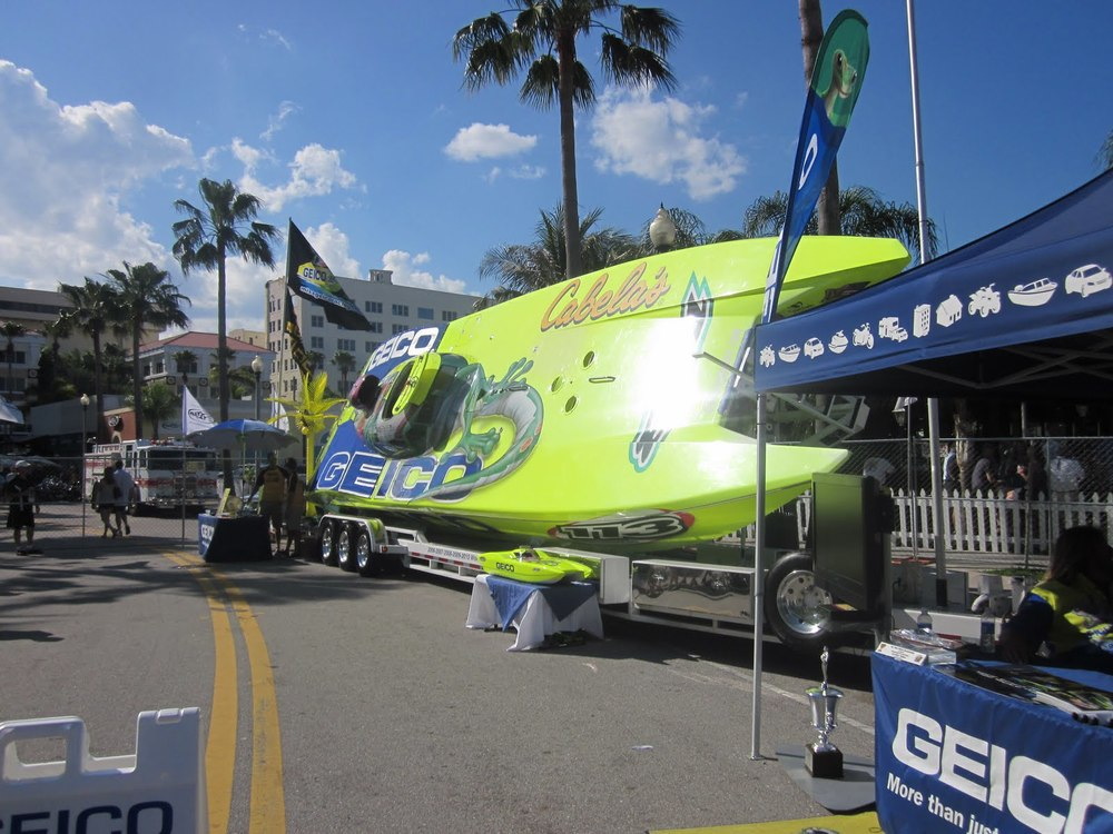 Geico Racing Boat at Palm Beach