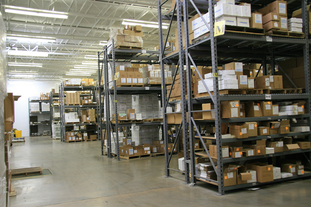 marketing and promotional products in warehouse