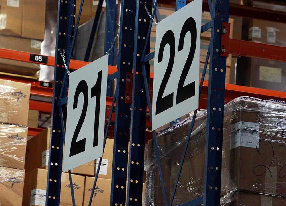 Warehouse Isle Number Signs