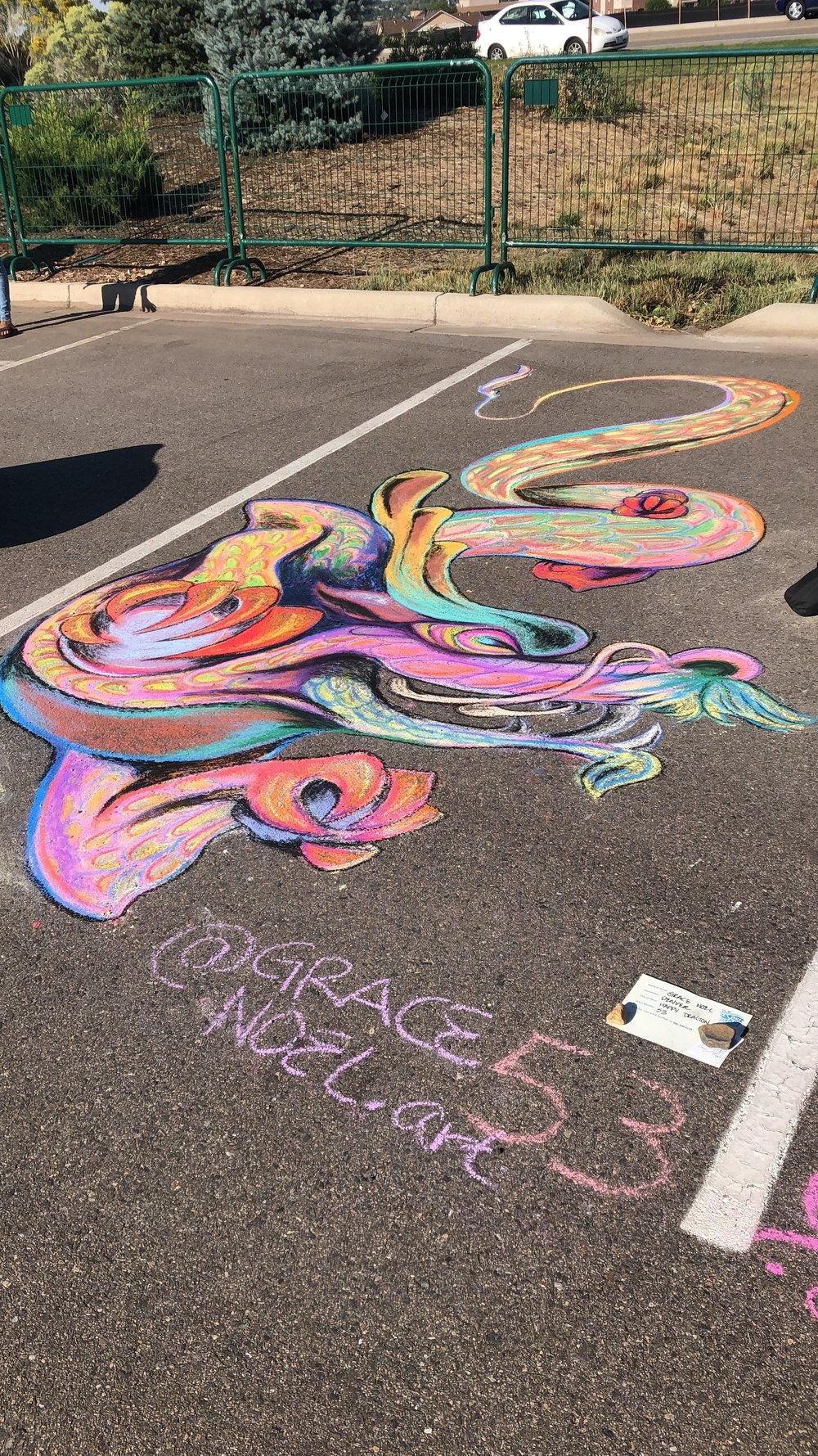 3rd Place at the Centennial Chalk Fest