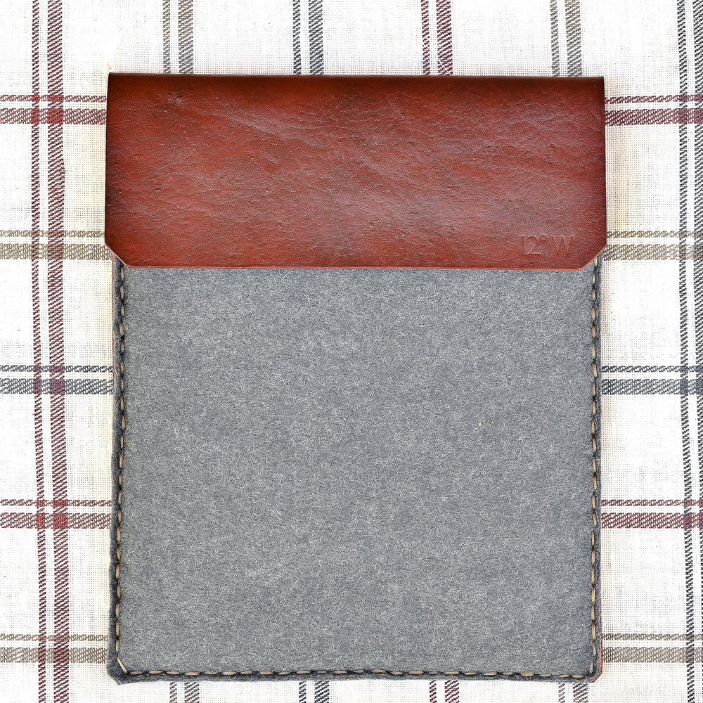 Wool Felt & Leather iPad Sleeve