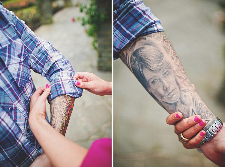Tattoos in Belfast Pre Wedding Photographs