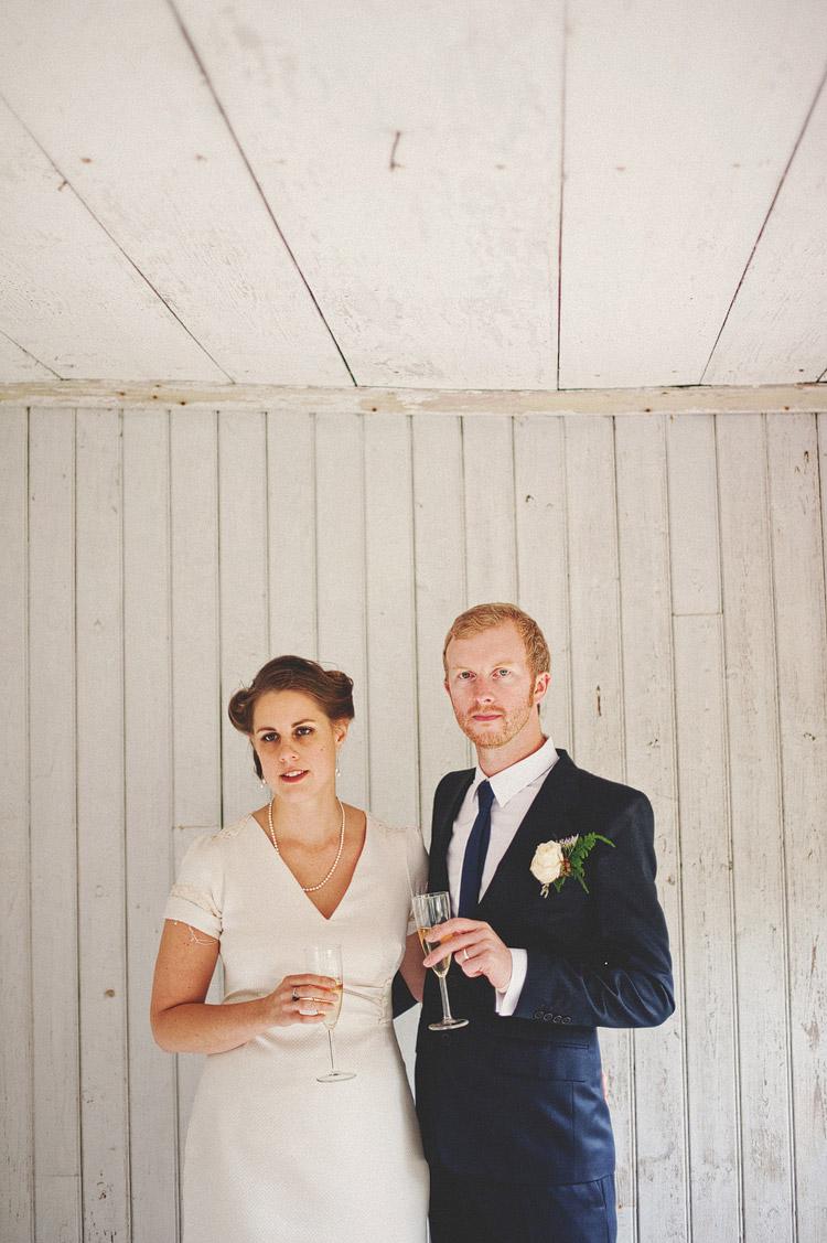 this modern love champagne wedding portrait