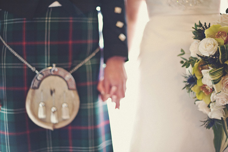 Martin's kilt at Northern Ireland wedding